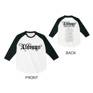 「Aldious Japan Tour 2015-2016」 ラグランTシャツ(WHITE×BLACK)
