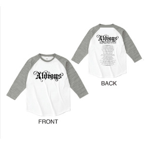 「Aldious Japan Tour 2015-2016」ラグランTシャツ(WHITE × GRAY)