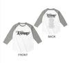 ラグランTシャツ(WHITE × GRAY)【バーゲンセール】
