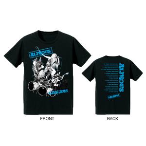 Aldious LIVE 2016 Tシャツ (ブラック×ブルー)