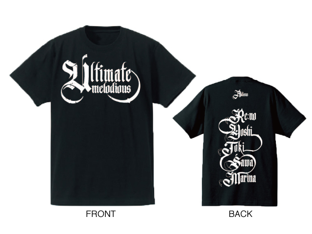 Aldious「Ultimate Melodious」Tシャツ(ブラック×ホワイト)