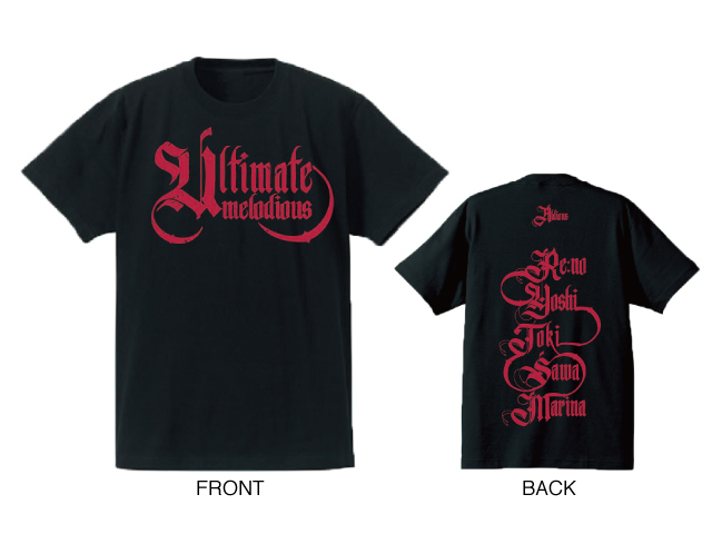 Aldious「Ultimate Melodious」Tシャツ(ブラック×レッド)