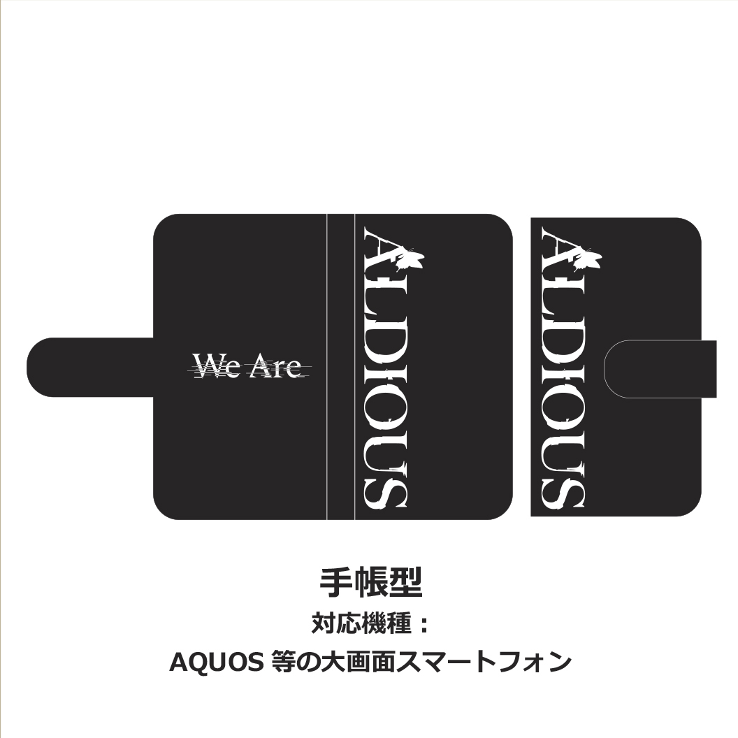 "Aldious 手帳型スマホケース ""We Are"""