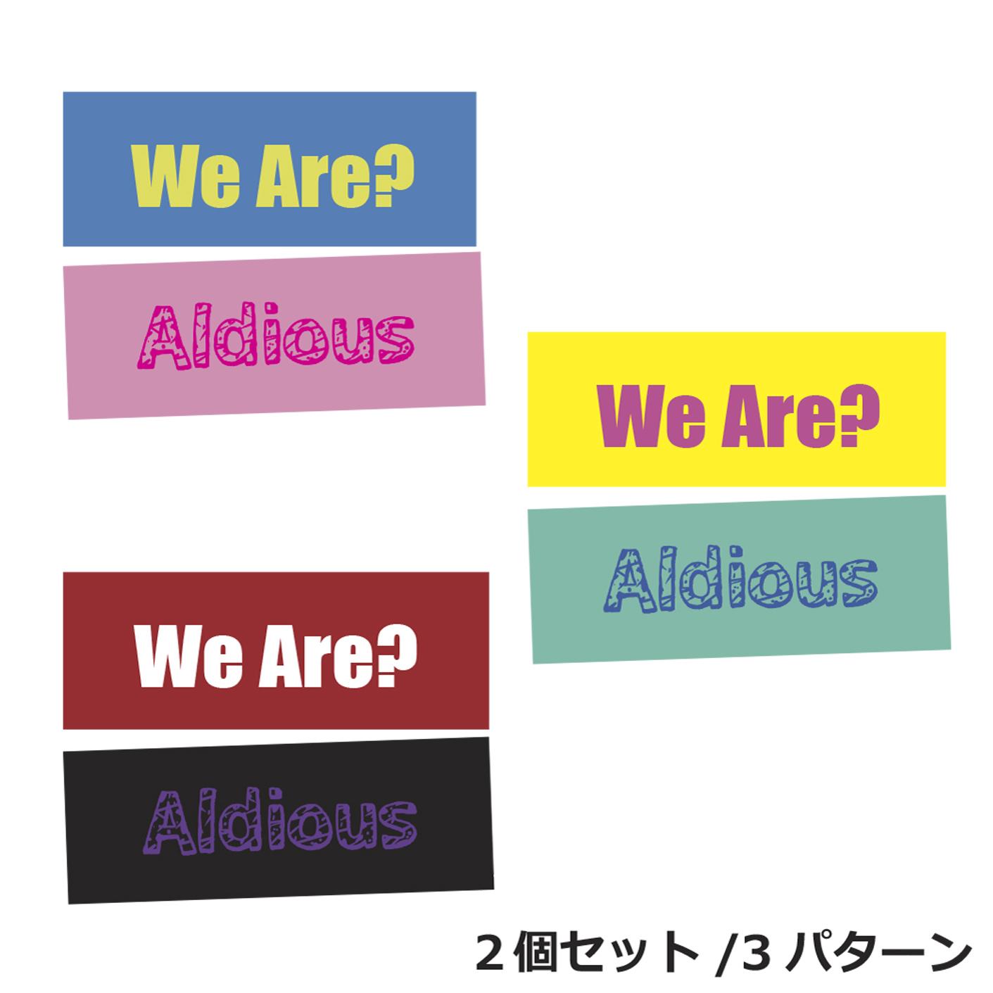 """""""We Are"""" スリムリストバンド(2個セット)"""