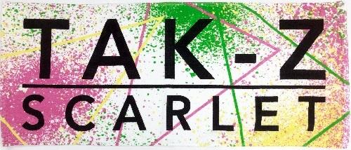 TAK-Z TOWEL -SCARLET- (WHITE)