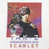【Special Price】TAK-Z T-shirt -SCARLET- (WHITE)